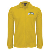 Fleece Full Zip Gold Jacket-Arched Jarvis Christian College Bulldogs