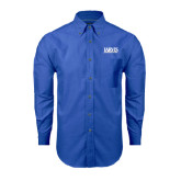 Mens Royal Oxford Long Sleeve Shirt-Jarvis Christian College - Institutional Mark
