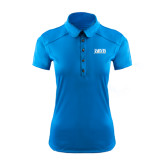 Ladies Ogio Sapphire Blue Pleated Back Polo-Jarvis Christian College - Institutional Mark