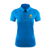 Ladies Ogio Sapphire Blue Pleated Back Polo-Jarvis Chrsitian College Bulldogs w/ Major Stacked