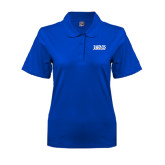 Ladies Easycare Royal Pique Polo-Jarvis Christian College - Institutional Mark