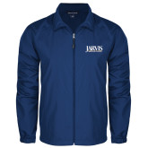 Full Zip Royal Wind Jacket-Jarvis Christian College - Institutional Mark