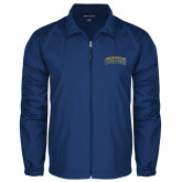 Full Zip Royal Wind Jacket-Arched Jarvis Christian College Bulldogs