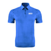 Sapphire Horizontal Textured Polo-Jarvis Christian College - Institutional Mark