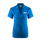 Ladies Sapphire Horizontal Textured Polo-Jarvis Christian College - Institutional Mark