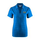 Ladies Sapphire Horizontal Textured Polo-Arched Jarvis Christian College Bulldogs