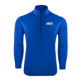 Sport Wick Stretch Royal 1/2 Zip Pullover-Jarvis Christian College - Institutional Mark