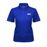 Ladies Royal Dry Mesh Polo-Jarvis Christian College - Institutional Mark