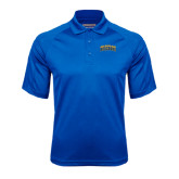 Royal Textured Saddle Shoulder Polo-Arched Jarvis Christian College Bulldogs