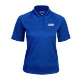 Ladies Royal Textured Saddle Shoulder Polo-Jarvis Christian College - Institutional Mark