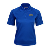 Ladies Royal Textured Saddle Shoulder Polo-Arched Jarvis Christian College Bulldogs