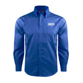 Red House French Blue Dobby Long Sleeve Shirt-Jarvis Christian College - Institutional Mark