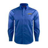 Red House French Blue Dobby Long Sleeve Shirt-Arched Jarvis Christian College Bulldogs