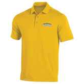 Under Armour Gold Performance Polo-Arched Jarvis Christian College Bulldogs