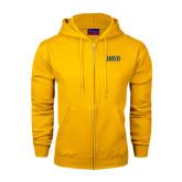 Champion Gold Fleece Full Zip Hood-Jarvis Christian College - Institutional Mark