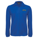 Fleece Full Zip Royal Jacket-Arched Jarvis Christian College Bulldogs