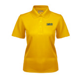 Ladies Gold Dry Mesh Polo-Jarvis Christian College - Institutional Mark