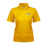 Ladies Gold Dry Mesh Polo-Arched Jarvis Christian College Bulldogs