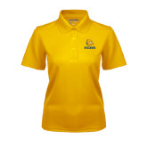 Ladies Gold Dry Mesh Polo-Jarvis Chrsitian College Bulldogs w/ Major Stacked