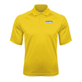 Gold Textured Saddle Shoulder Polo-Arched Jarvis Christian College Bulldogs