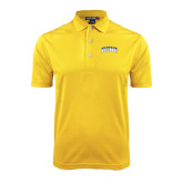 Gold Dry Mesh Polo-Arched Jarvis Christian College Bulldogs