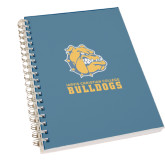 Clear 7 x 10 Spiral Journal Notebook-Jarvis Chrsitian College Bulldogs w/ Major Stacked