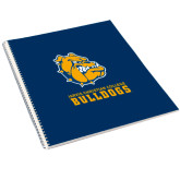 College Spiral Notebook w/Clear Coil-Jarvis Chrsitian College Bulldogs w/ Major Stacked