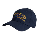 Navy Heavyweight Twill Pro Style Hat-Arched Jarvis Christian College Bulldogs