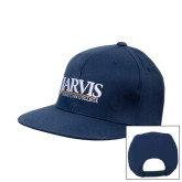 Navy Flat Bill Snapback Hat-Jarvis Christian College - Institutional Mark