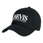 Black Heavyweight Twill Pro Style Hat-Jarvis Christian College - Institutional Mark