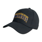Black Heavyweight Twill Pro Style Hat-Arched Jarvis Christian College Bulldogs