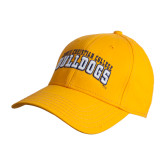 Gold Heavyweight Twill Pro Style Hat-Arched Jarvis Christian College Bulldogs