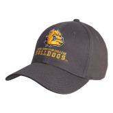 Charcoal Heavyweight Twill Pro Style Hat-Jarvis Chrsitian College Bulldogs w/ Major Stacked