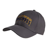 Charcoal Heavyweight Twill Pro Style Hat-Arched Jarvis Christian College Bulldogs