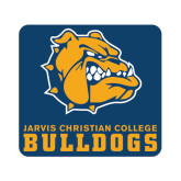 Small Magnet-Jarvis Chrsitian College Bulldogs w/ Major Stacked, 6 inches wide