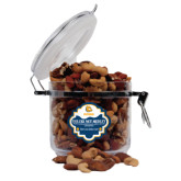Deluxe Nut Medley Round Canister-Jarvis Chrsitian College Bulldogs w/ Major Stacked