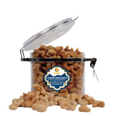Cashew Indulgence Round Canister-Jarvis Chrsitian College Bulldogs w/ Major Stacked