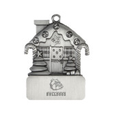 Pewter House Ornament-Jarvis Chrsitian College Bulldogs w/ Major Stacked - Engraved