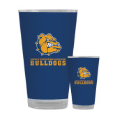 Full Color Glass 17oz-Jarvis Chrsitian College Bulldogs w/ Major Stacked