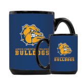 Full Color Black Mug 15oz-Jarvis Chrsitian College Bulldogs w/ Major Stacked