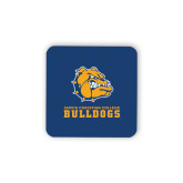 Hardboard Coaster w/Cork Backing-Jarvis Chrsitian College Bulldogs w/ Major Stacked