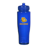 Spectrum Blue Sport Bottle 28oz-Jarvis Chrsitian College Bulldogs w/ Major Stacked