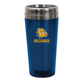 Solano Acrylic Blue Tumbler 16oz-Jarvis Chrsitian College Bulldogs w/ Major Stacked