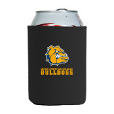Neoprene Black Can Holder-Jarvis Chrsitian College Bulldogs w/ Major Stacked