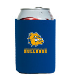 Neoprene Royal Can Holder-Jarvis Chrsitian College Bulldogs w/ Major Stacked