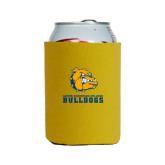 Neoprene Gold Can Holder-Jarvis Chrsitian College Bulldogs w/ Major Stacked