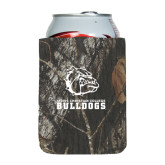 Collapsible Mossy Oak Camo Can Holder-Jarvis Chrsitian College Bulldogs w/ Major Stacked