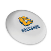 Ultimate White Sport Disc-Jarvis Chrsitian College Bulldogs w/ Major Stacked