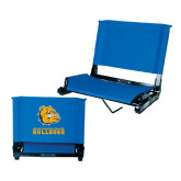Stadium Chair Royal-Jarvis Chrsitian College Bulldogs w/ Major Stacked