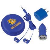 3 in 1 Royal Audio Travel Kit-Jarvis Chrsitian College Bulldogs w/ Major Stacked